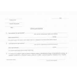 Oświadczenie pacjenta