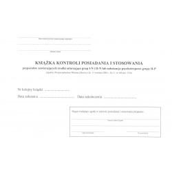 Mz/F-5 Książka kontroli środków odurzających i środków psychotropowych